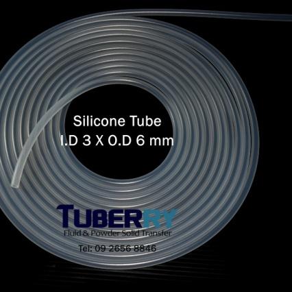 จำหน่ายท่อยางซิลิโคน I.D 3 X O.D 6 mm