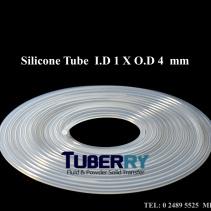 ท่อยางซิลิโคนขาวใส I.D 1X O.D 4 mm