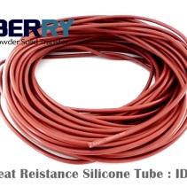 ท่อยางซิลิโคนสีแดงอิฐทนความร้อนสูง 315 C ID. 3 mm
