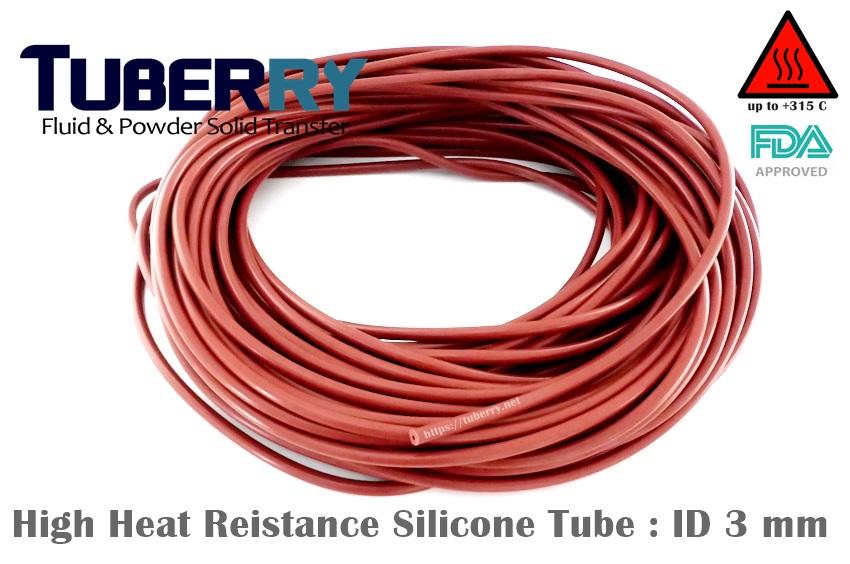 ท่อยางซิลิโคนสีแดงอิฐทนความร้อนสูง 315 C  ID. 3 mm.JPG