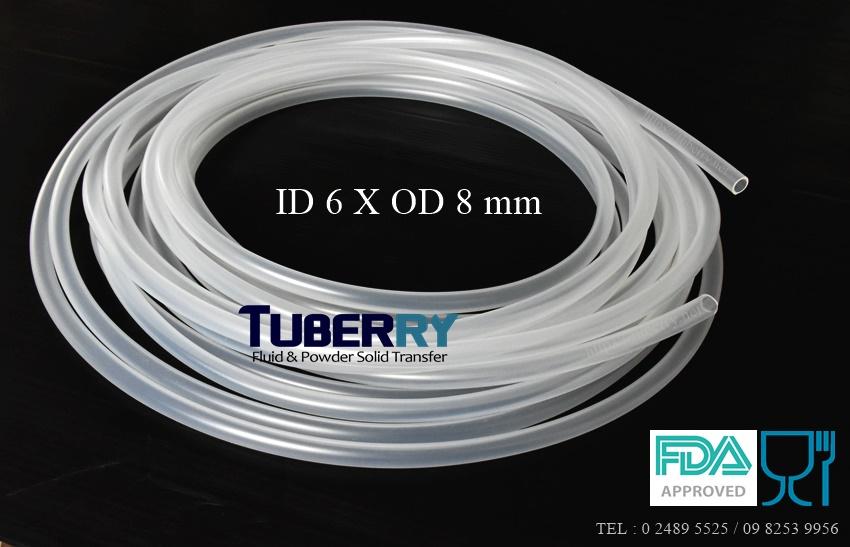 ท่อยางซิลิโคนฟู้ดเกรด สำหรับน้ำดื่ม ไม่มีกลิ่น ID 6 X OD 8 mm.JPG