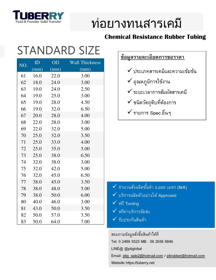 Chemical Resistance Rubber Tubing