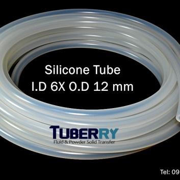 โรงงานผลิตท่อยางซิลิโคน I.D 6 X O.D 12 mm